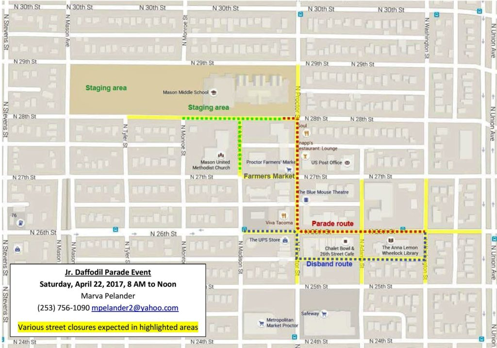 2017 Jr. Daffodil Parade Route
